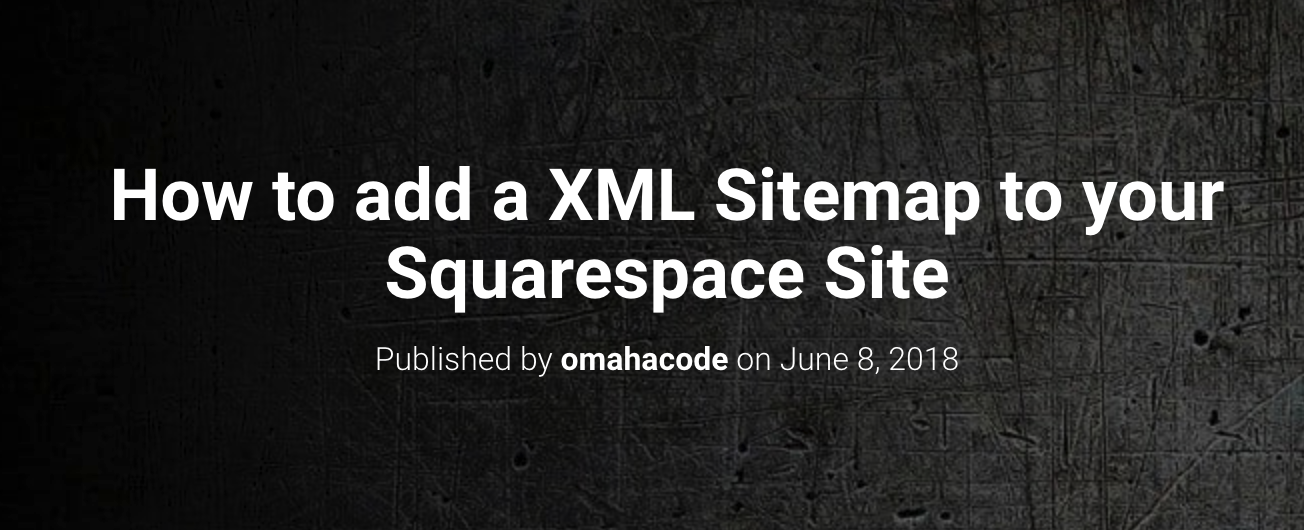Squarespace Sitemap Tutorial