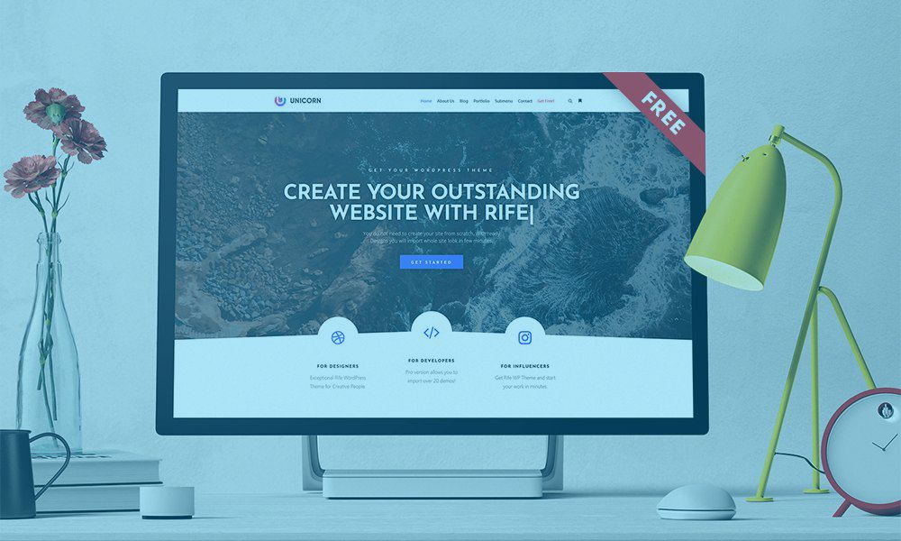Rife – Best Free WordPress Theme in 2019