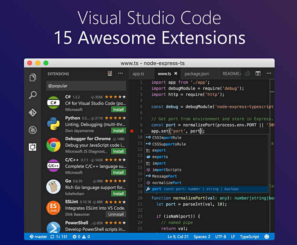 Visual Studio Code | 15 Useful Extensions