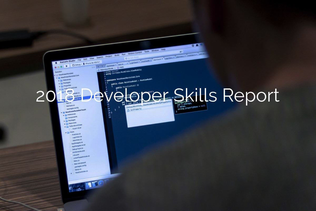 2018 Developer Skills Report Study.